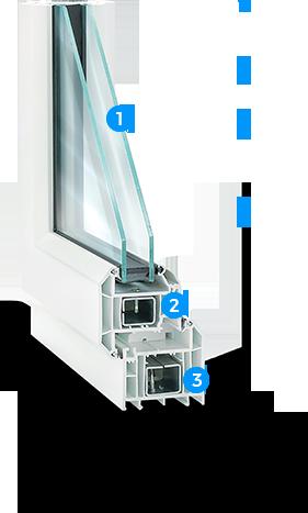 vynil window 1 - Tilt and Turn Windows