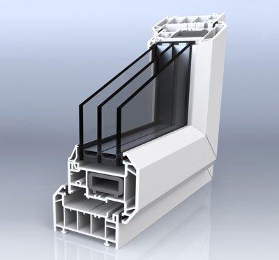 01 cross section of triple glazed window - Triple Glazed Windows
