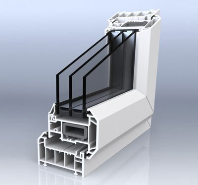01 cross section of triple glazed window - Triple Glazed Windows