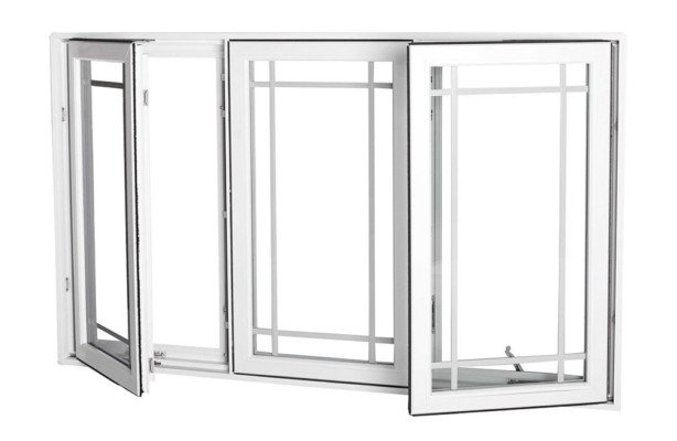Vinyl Casement 3 lite ext open 614x400 - What Are Casement Windows?