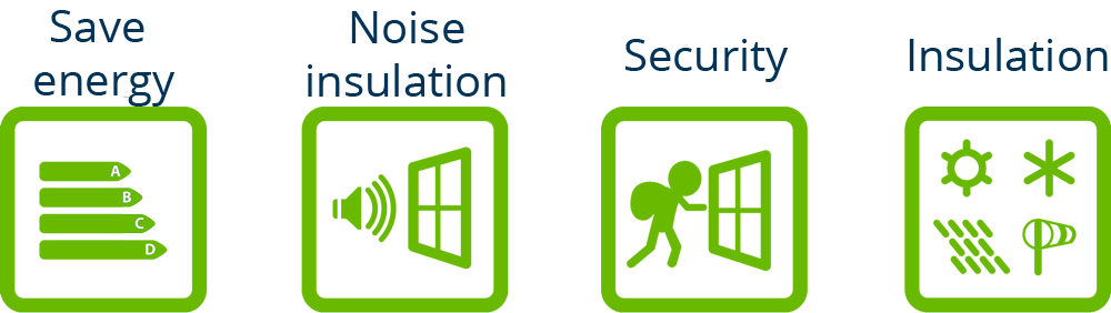 iconos prestaciones sumumEN - Reduce Your Summer Energy Bills with Tilt and Turn Windows