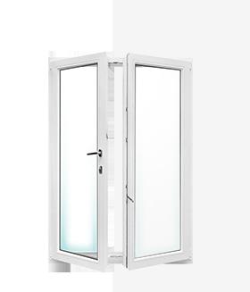 open window three - Tilt-and-Turn Doors