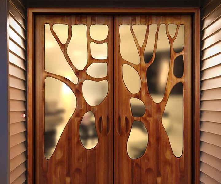 wooden doors - Create a Warm Entrance with Entry Doors from Seemray
